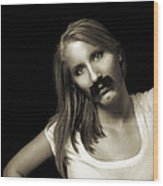 Movember Twentyfourth Wood Print