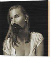 Movember Twentyninth Wood Print by Ashley King