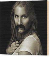 Movember Twentythird Wood Print by Ashley King