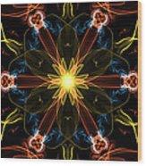 Moveonart Omnetra Star Thankful Portland Oregon Usa 2013 Wood Print