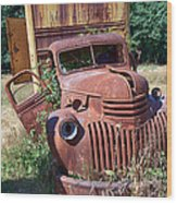 Moving Day In A Chevrolet Wood Print
