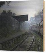 Moving Train Wood Print