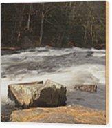 Moving Waters Wood Print