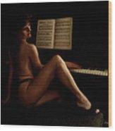 Mozart's Muse Wood Print