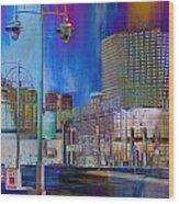 Mpm And Lamp Post Vivid Abstract Wood Print