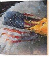 Mr. American Eagle Wood Print