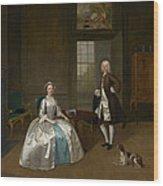 Mr And Mrs Atherton Wood Print