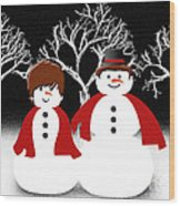 Mr And Mrs Snow 1 Wood Print
