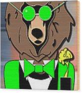 Mr Bear Wood Print