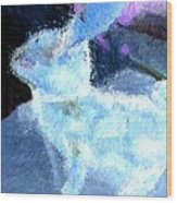 Mr. Blue Bunny Wood Print