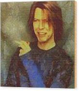 Mr Bowie Wood Print