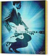 Mr Chuck Berry Blueberry Hill Style Edited 2 Wood Print