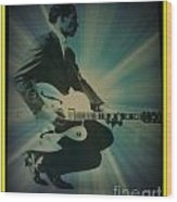 Mr. Chuck Berry Blueberry Hill Style Wood Print