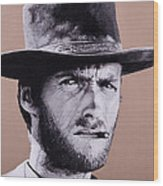 Mr. Eastwood Wood Print