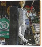 Mr Gas Pump Mechanic Wood Print by Kim Galluzzo Wozniak