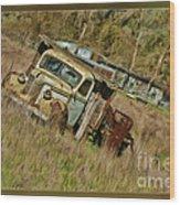 Mr Greenjeans Truck Wood Print
