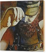 Mr. Leather-personnality Wood Print