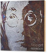 Mr Lennon Wood Print