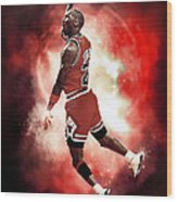 Mr. Michael Jeffrey Jordan Aka Air Jordan Mj Wood Print