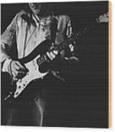 Mick On The Rock And Roll Guitar Wood Print