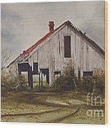 Mr. Munker's Old Barn Wood Print