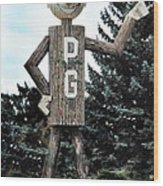 Mr. Pg Wood Print