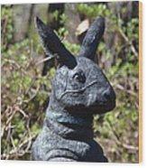 Mr Rabbit 2 Wood Print