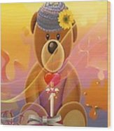 Mr. Teddy Bear Wood Print