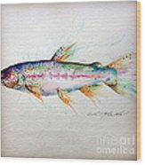 Mr Trout Wood Print by Chris Mackie