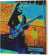 Mrdog #24 In Cosmicolors Crop 2 Wood Print