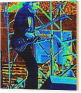 Mrdog #63 Enhanced In Cosmicolors Wood Print