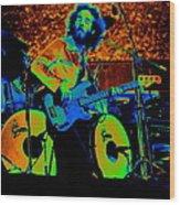 Mrdog #65 Enhanced In Cosmicolors Wood Print