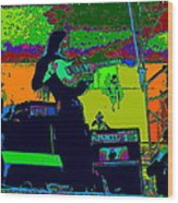 Mrdog #8 In Cosmicolors 2 Wood Print