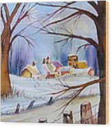 Mrs. Dunn's Winter Wood Print