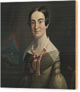 Mrs. Eunice Hall Of Portland, Maine Wood Print