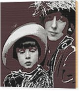 Mrs. Evelyn Nesbit Thaw And Son Arnold Genthe Photo New York 1913-2014 Wood Print