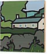 Mrs Hartly's Cottage Wood Print by Kenneth North