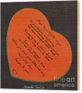 Mrs. Heartfelt Says Wood Print