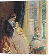 Mrs Hicks Mary Rosa And Elgar Wood Print