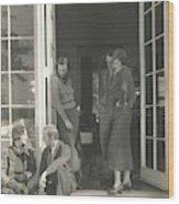 Mrs. Langdon Post Talking With Mr. William Wood Print