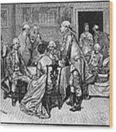 Mrs. Murray And Lord Howe Wood Print