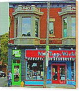 Mrs Tiggy Winkle's Toy Shop And Lost Marbles Richmond Rd The Glebe Paintings Ottawa Scenes C Spandau Wood Print