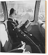 Mrs. William McManus Reading On A Train Wood Print