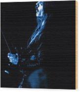 Mrush #13 In Blue Wood Print