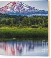 Mt Adams Sunset Wood Print