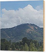 Mt Baldy Panorama From Grants Pass Wood Print