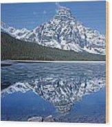 1m3641-mt. Chephren Reflect Wood Print