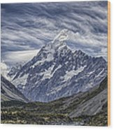 Mt. Cook Wood Print