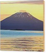 Mt. Edgecombe Bright Sunset Wood Print by Ashley  Kinney-Maravilla