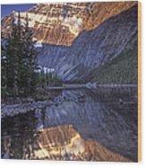 Mt Edith Cavell Reflection Wood Print